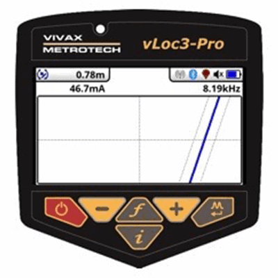 vLoc3-Pro Plan Screen Locate Mode