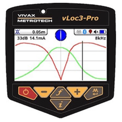 vLoc3-Pro Transverse Screen Locate Mode
